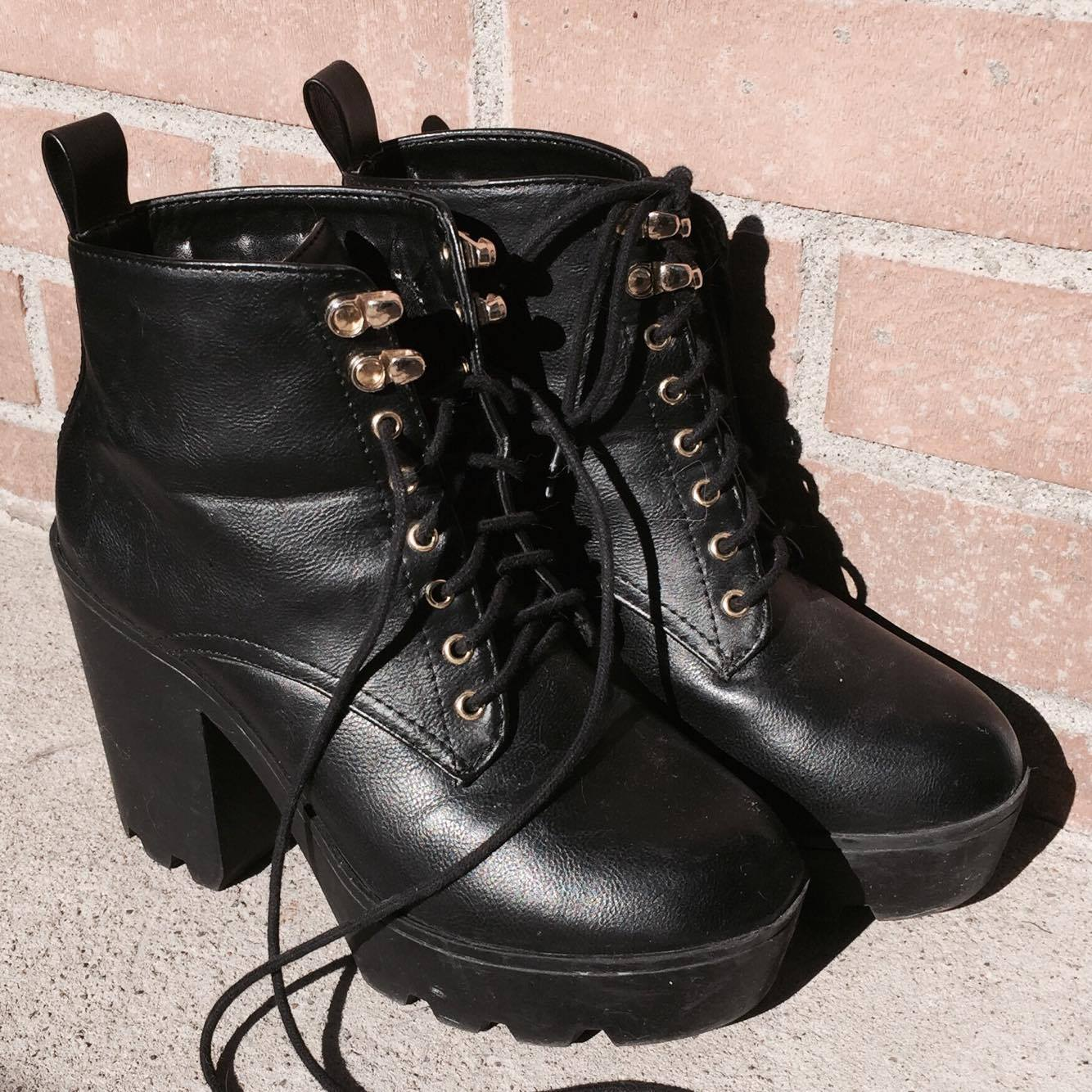 bottes noires boots fashion mode talons style