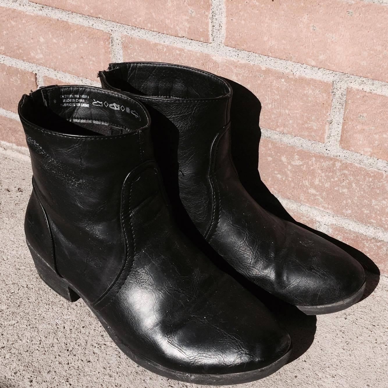 bottes noires boots fashion mode
